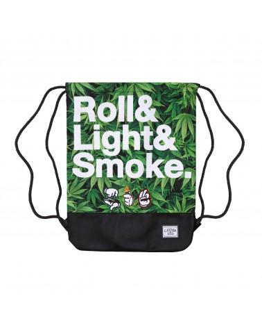Cayler And Sons - Roll Light Smoke Gym Bag - Green Mc / Black / White