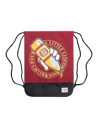 Cayler And Sons GLD - 40 OZ Gymbag - Maroon / Black / Gold