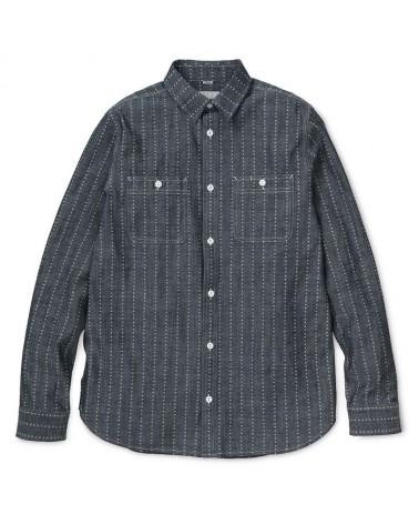 Carhartt - Hobbs Heart Stripe Shirt - Heart Stripe, Indigo / White