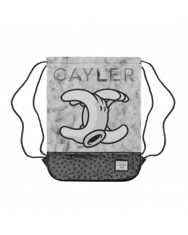 Cayler&Sons WL - NO.1 Gymbag - White marble/Black