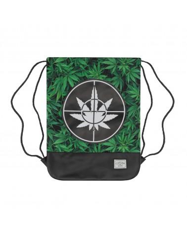Cayler&Sons GL - Defend Your Crops Gymbag - Green leaves/Black