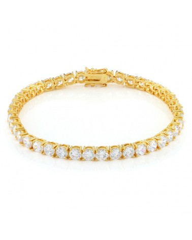 King Ice - 4mm - 14K Gold Single row Tennis Bracelet