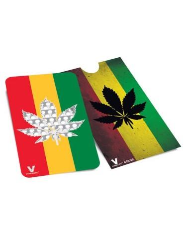 Rasta Leaf  grinder card