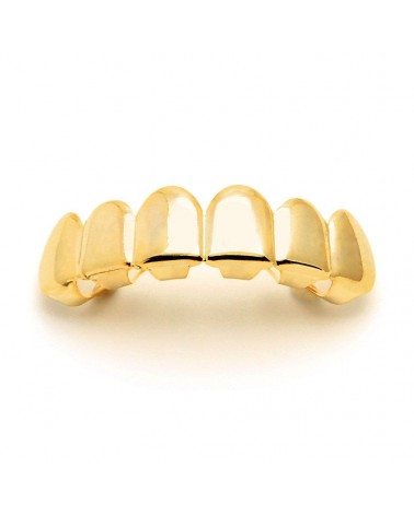 King Ice - Gold Plain Grillz - Top