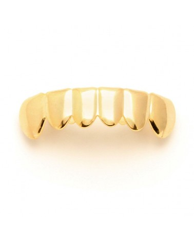 King Ice - Gold Plain Teeth Grillz - Bottom
