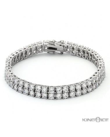 King Ice - 6mm - White Gold Bezel Bracelet