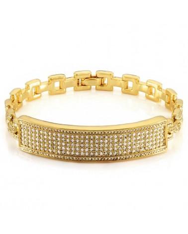 King Ice - 14K Gold ID Chain Link Bracelet
