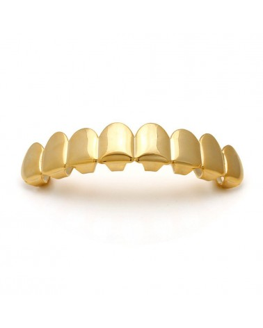 King Ice - Gold Plated Dracula Premium Grillz - Top