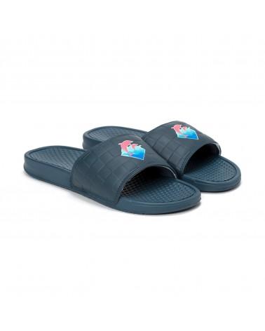 Pink Dolphin - Waves 2.0 Slides - Grey