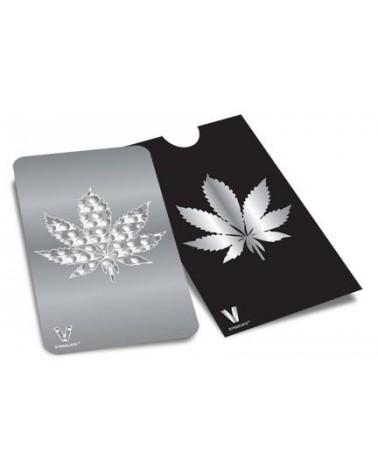 Weed Leaf Card Grinder Metal