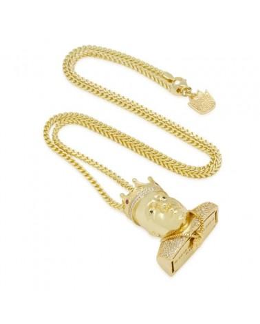 King Ice - Notorious B.I.G. x King Ice - Big Poppa Necklace- Gold