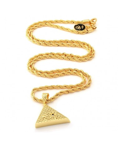 King Ice - CZ All Seeing Eye Pyramid Necklace