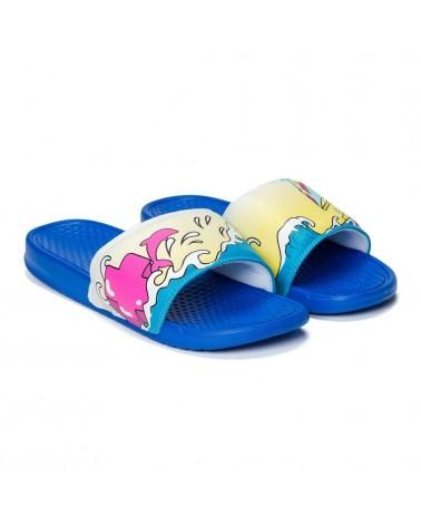 Pink Dolphin - Portrait Slide - Blue