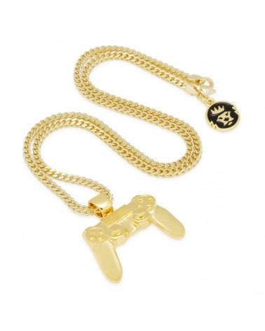 King Ice - Inspired by PlayStation® - The Iced Out Gold Classic Controller Necklace
