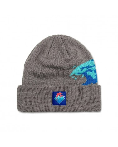 Pink Dolphin - Waves Vintage Beanie - Black