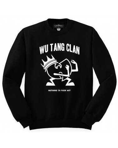 Block Custom - Wu Tang 3D Logo Crewneck - Black