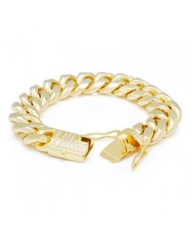 KING ICE - 10MM Miami Cuban Bracelet - Gold