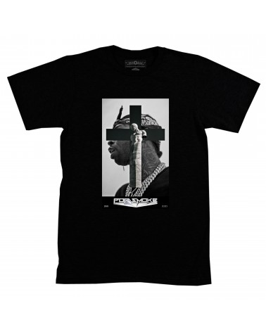 Block Custom - Pop Smoke Bandana Tee - Black