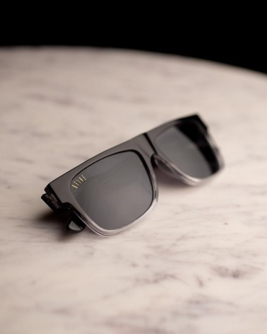 9Five Eyewear - Capital Black Fade Gradient Lens - Black/Clear