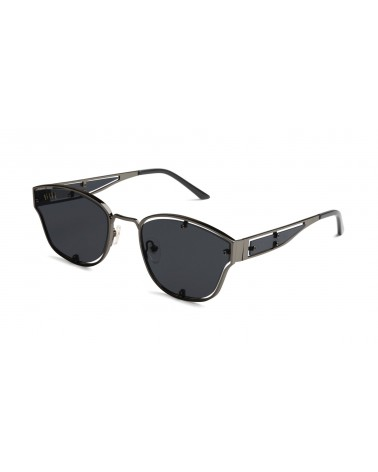 9Five Eyewear - Orion Gradient GunMetal Sunglasses - Black