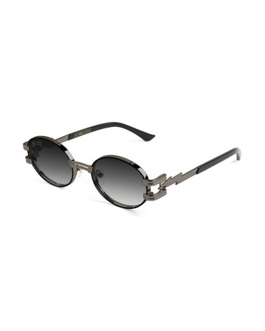 9Five Eyewear - St James Bolt GunMetal Clear Lens - Black