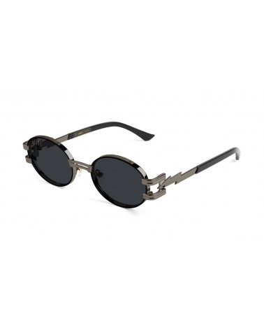 9Five Eyewear - St James GunMetal Sunglasses - Black