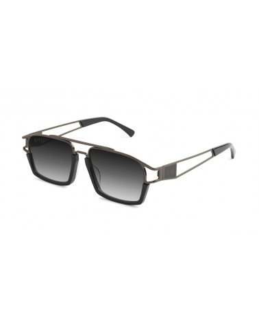 9Five Eyewear - Kingpin GunMetal Clear Lens Shade - Black