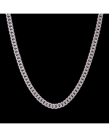 APORRO BRAND - 8MM Cuban Chain - White Gold