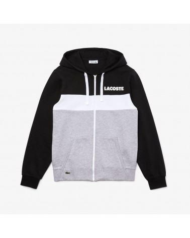 Lacoste Live - Colorblock Zip Hoody - Black / Grey