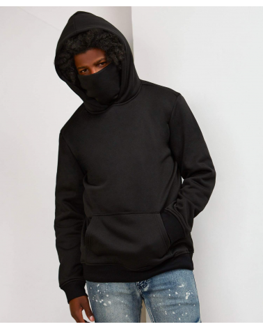 Reason - Face Cover Hoody - Black