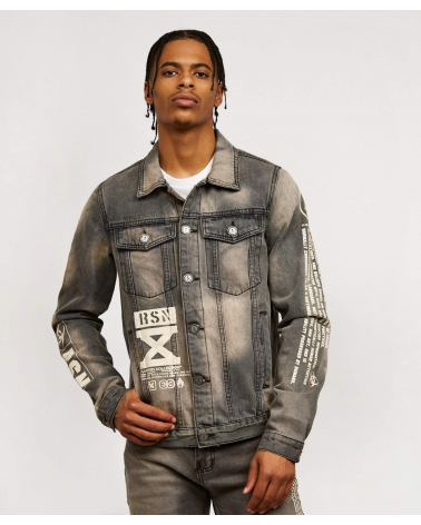 Reason - Status Denim Jacket - Grey