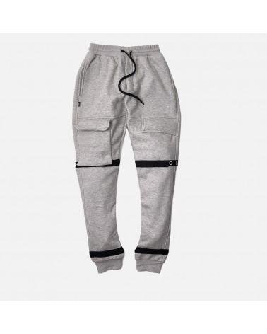8 & 9 Clothing - Strapped Up Fleece Sweatpant - Grey / Black