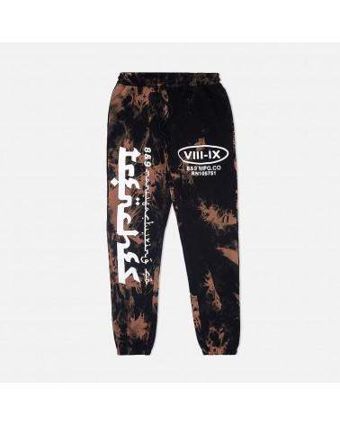 8 & 9 Clothing - Trenches Raised Sweatpants - Black / Mc