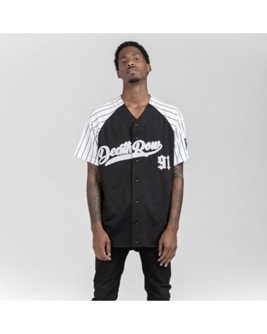 King Ice x Death Row Records - Death Row Baseball Jersey - Black