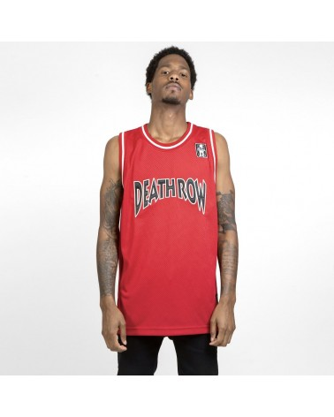 King Ice x Death Row Records - Death Row Basketball Jersey - Red