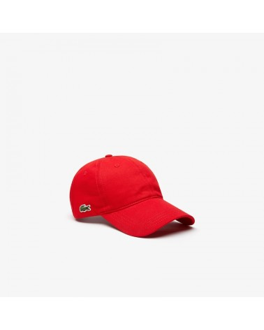 Lacoste Live - Side Logo Curved Cap - Red