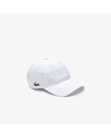 Lacoste Sport - Lightweight Side Logo Curved Cap - White