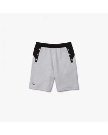 Lacoste Sport - Contrast Accents Fleece Shorts - Grey