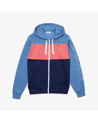 Lacoste Live - Colorblock Zipped Hoody - Navy / Blue / Pink