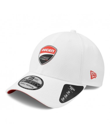 New Era - Ducati Motor Logo Low Profile 39THIRTY Fitted Curved Cap - White