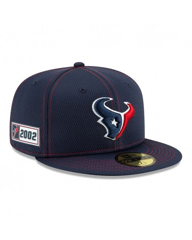New Era - Houston Texans Sideline Road 59FIFTY Fitted Cap - Navy