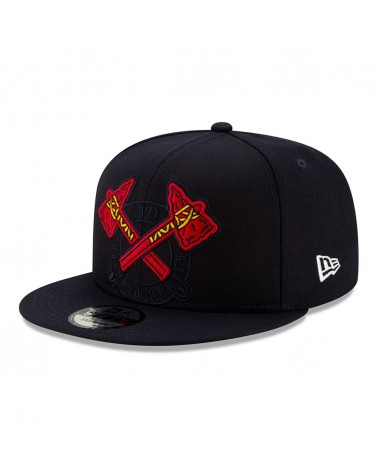 New Era - Atlanta Braves Element Logo 9FIFTY Snapback - Navy