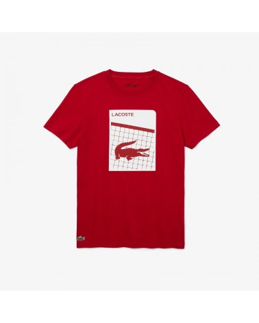 Lacoste Sport - 3D Print Ultra Dry Tee - Red