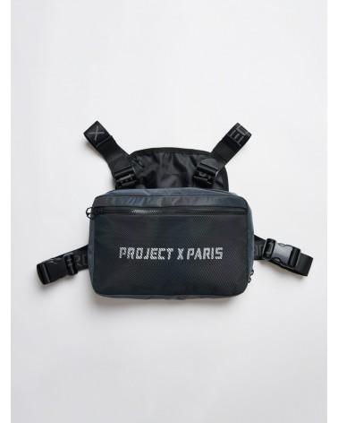 PROJECT X PARIS - UTILITY CHEST BAG WITH MESH DETAILS - DARK REFLECTIVE