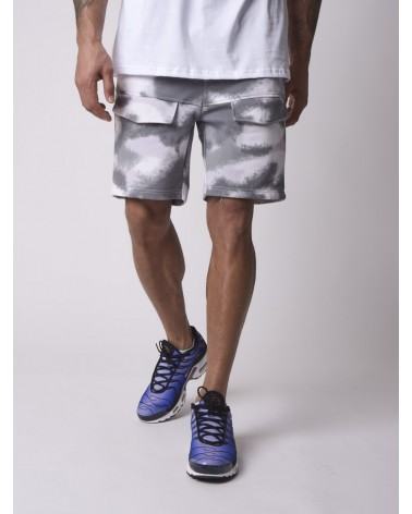 PROJECT X PARIS - ABSTRACT CAMOUFLAGE SHORT - GREY