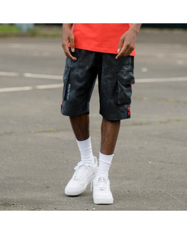 King Apparel - Earlham Cargo Shorts - Black Acid
