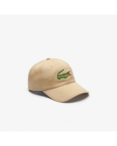 Lacoste Live - Oversized Logo Curved Cap - Beige