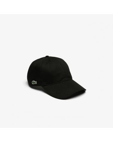 Lacoste Live - Side Logo Curved Cap - Black