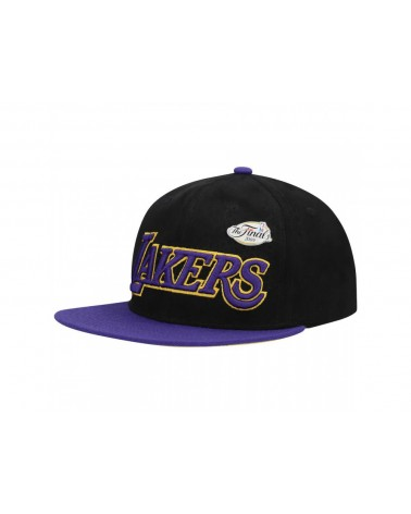Mitchell & Ness - Snake Skin Pinned Los Angeles Lakers Snapback - Black