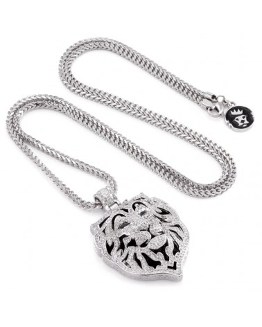 King Ice - Phantom Lion Necklace - Silver